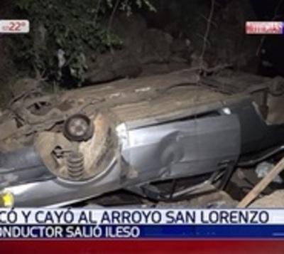 Conductor sale ileso tras grave accidente en San Lorenzo