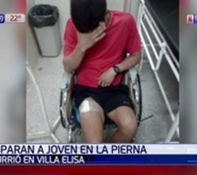 Presuntos adictos balean a un joven en la pierna