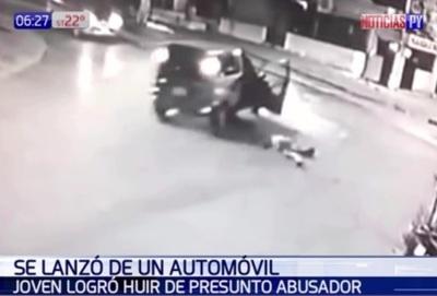 Mujer se lanzó de vehículo en movimiento para huir de acosador – Prensa 5