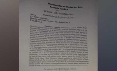 """Policía Municipal """"recordó"""" amparo contra Caminera"""
