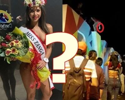 """Supuesto vídeo de """"Miss Tanga"""" bailando sobre corporeo de su ciudad"""