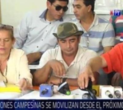 Campesinos e indígenas se movilizarán en Asunción