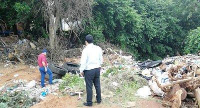 Intervienen vertedero clandestino de la Municipalidad de Ñemby
