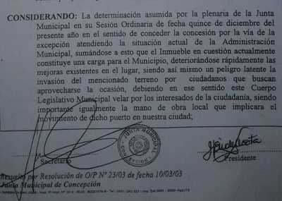 """Concejales habían aprobado concesión de puerto a ALCOSUR, por considerarlo """"una carga para la institución municipal"""""""