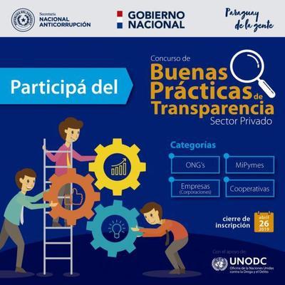 Secretaría Anticorrupción organiza concurso de buenas prácticas para el sector privado