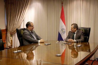 Titular de CSJ se reunió con embajador de la OEA