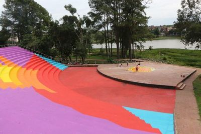 CDE: pintata en anfiteatro genera polémica