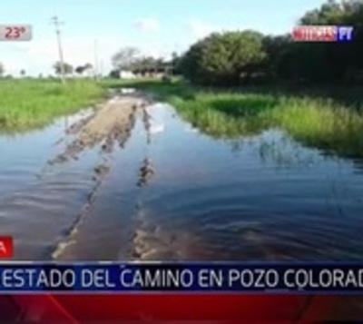 Calamitoso estado de caminos en Pozo Colorado aíslan a pobladores