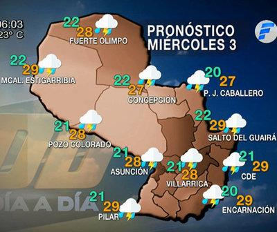 Lluvias y tormentas persistirán para hoy miércoles