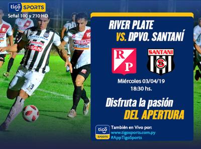 River y Santaní inician otra jornada del Apertura