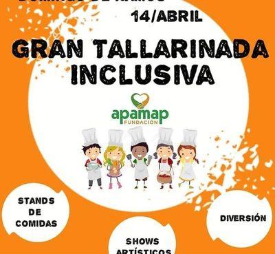 Tallarinada inclusiva de APAMAP será el 14 de abril