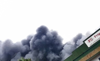HOY / Incendio de gran magnitud en frigorífico de Loma Plata