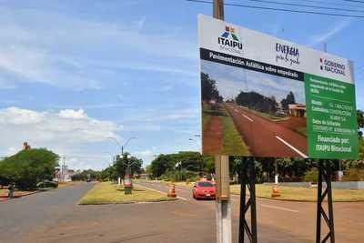 Alto Paraná experimenta importante crecimiento vial, con inversiones de ITAIPU