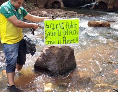 Campaña para salvar arroyo Saltito se acrecienta