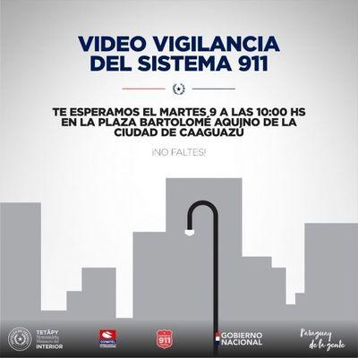 Inauguran Centro de Monitoreo y cámaras del Sistema 911 en Caaguazú