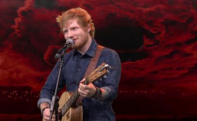 [Video] Mira a Ed Sheeran cantando temas de Iron Maiden y Limp Bizkit