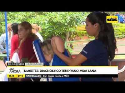 Diabetes: Diagnóstico temprano, vida sana