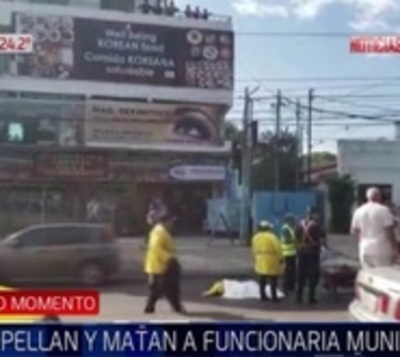 Camioneta arrolla y mata a trabajadora de limpieza de municipalidad