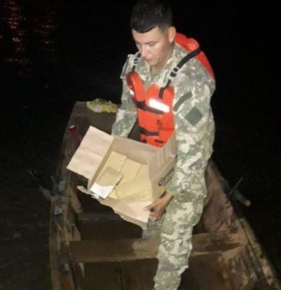 Requisan marihuana en precario bote