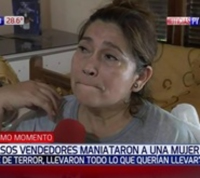 Malvivientes maniataron a una mujer para desvalijar su casa