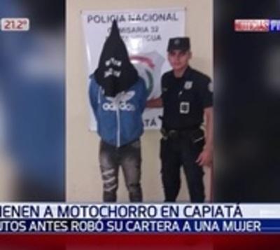 Capturan a motochorro tras asaltar a una mujer