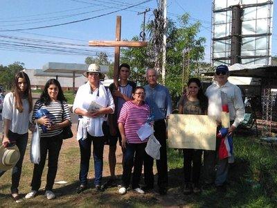 Sanlorenzanos en viacrucis piden la imputación de Albino Ferrer