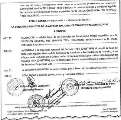 Autorizan a Fuerzas Armadas a expedir licencias de conducir