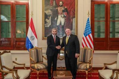 """Mike Pompeo: Paraguay, """"un socio"""" para reestablecer la democracia en Venezuela"""