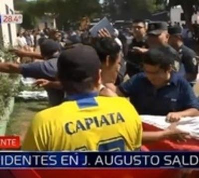 Tensión, enfrentamiento y heridos en J. Agusto Saldivar