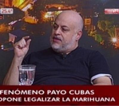 """Payo apela a que se legalice la marihuana: """"Bien hecha es un placer"""""""