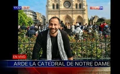Diseñador paraguayo relata lo que pasó en la Catedral de Notre Dame