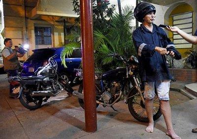 """""""Motochorros"""" atacan sobre Eusebio Ayala"""