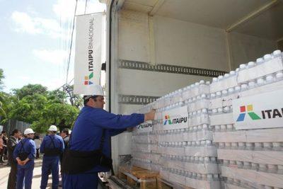 Itaipú entregó medicamentos e insumos para  Concepción y San Pedro