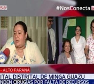 Suspenden cirugías en hospital de Minga Guazú por falta de recursos