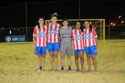 Cuartos de final del fútbol playa femenino