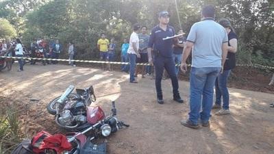 Niña muere en accidente de motocicleta