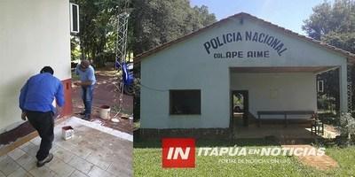 VOLUNTARIOS REFACCIONAN EN COMISARÍA DE APE AIME Y PUESTO DE SALUD DE ALBORADA 1.