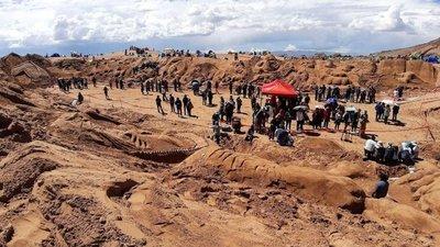 Esculturas en arena en Bolivia