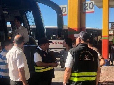 Dinatrán sancionó a 20 empresas en operativo Semana Santa