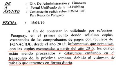 A 6 meses del pedido, no dan información pública
