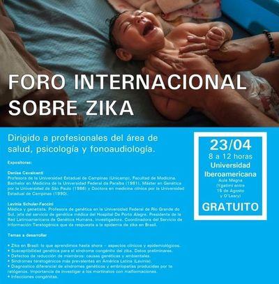 Anuncian Foro Internacional sobre Zika