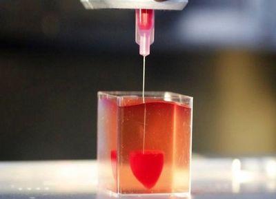 Imprimen primer corazón en 3D con tejido humano
