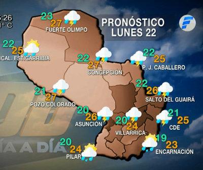 Continuidad del ambiente lluvioso para hoy y los próximos días