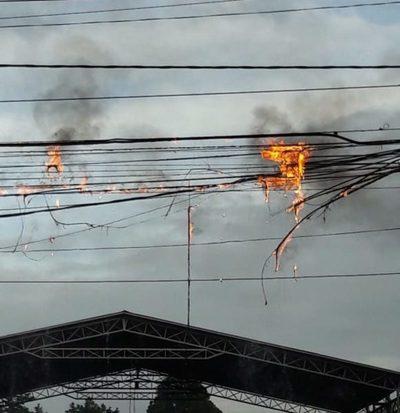 Cable se incendia