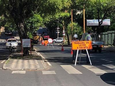 Seguirán obras de alcantarillado en Asunción durante esta semana