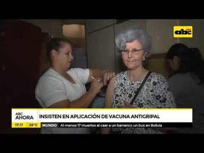 Insisten en aplicación de vacuna antigripal