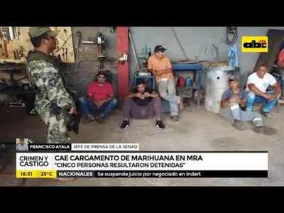 Cae cargamento de marihuana en MRA