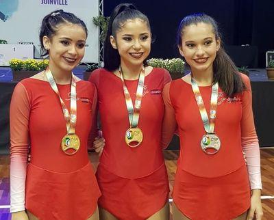 Paraguay brilla con 9 medallas en el 'Suda' de Patinaje