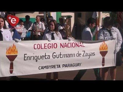 DESFILE ESTUDIANTIL EN HOMENAJE AL DISTRITO DE CAMBYRETÁ