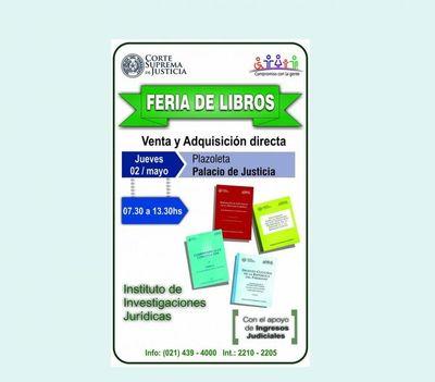 Se organiza feria de libros en sede judicial de la capital